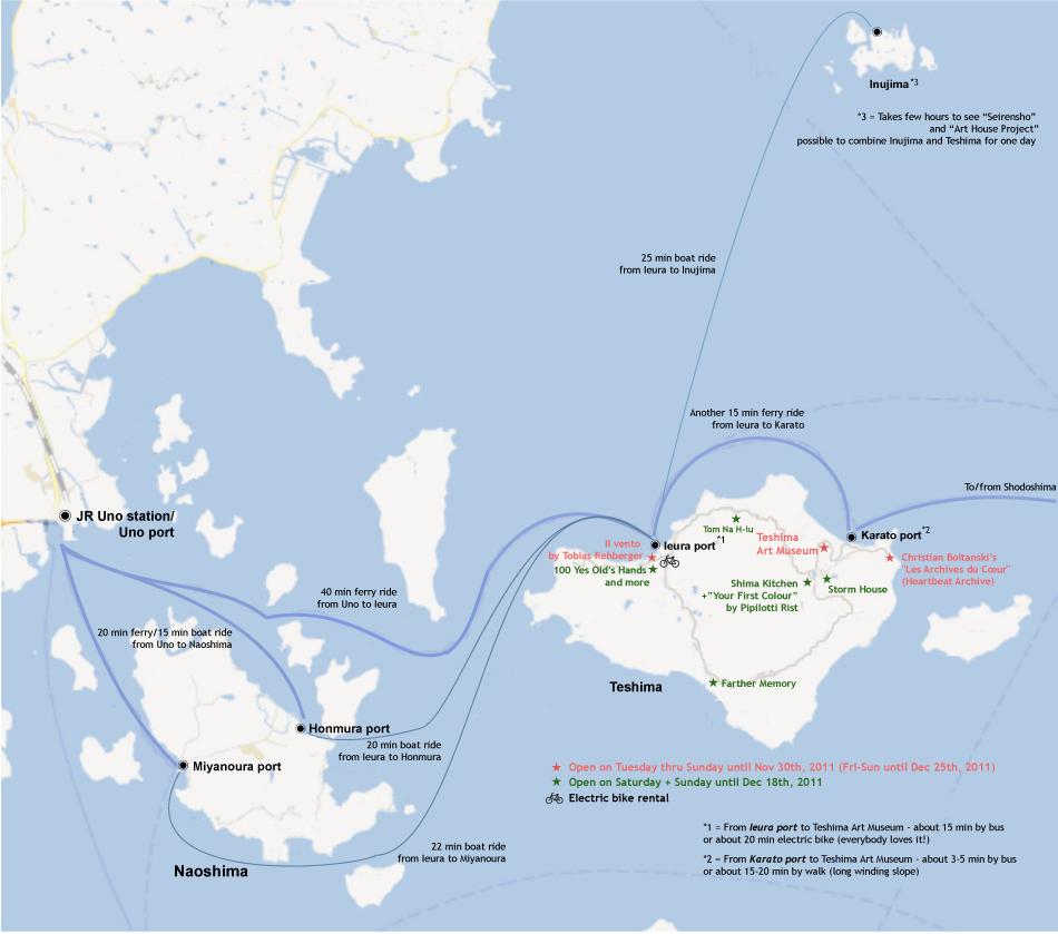 Uno Slope House Teshima For Your Logistics - Japan map naoshima